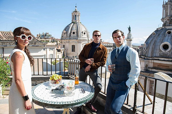 "From left, Alicia Vikander, Armie Hammer and Henry Cavill in ""The Man from U.N.C.L.E."""