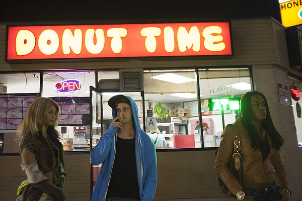 "Kitana Kiki Rodriguez, James Ransone and Mya Taylor in ""Tangerine"""