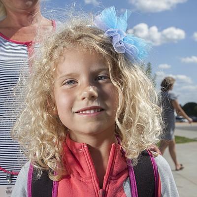 Broken Arrow kindergartner Jovie Coffman