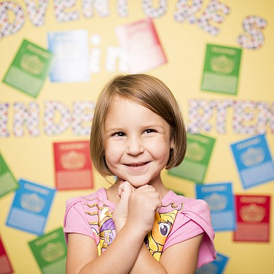 Schwegler kindergartner Emma Hubbard
