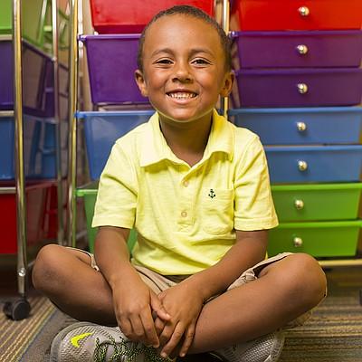 Woodlawn kindergartner Trey Wilson
