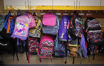 ... first day of school for Lawrence elementary schools in this file photo