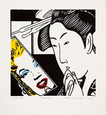"""Marilyn"" by Roger Shimomura, published by Lawrence Lithography Workshop"