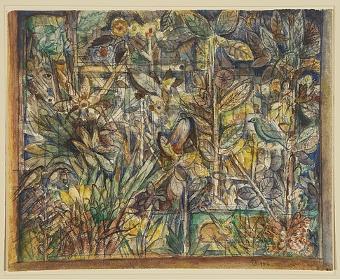"""Variations on a Theme: Design for a Tapestry"" by Albert Bloch"