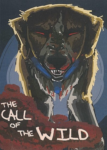 """Artist: Alexandra Simmons Book: """"The Call of the Wild"""" by Jack London"""