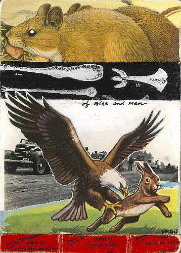 "Artist: Larissa Wilson Book: ""Of Mice and Men"" by John Steinbeck"
