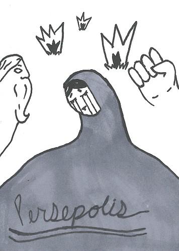"Artist: Aidan Rothrock Book: ""Persepolis"" by Marjane Satrapi"