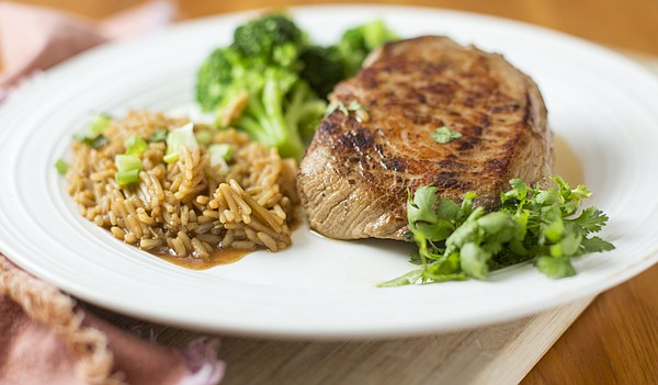 Green Tea Sriracha Pork Chops