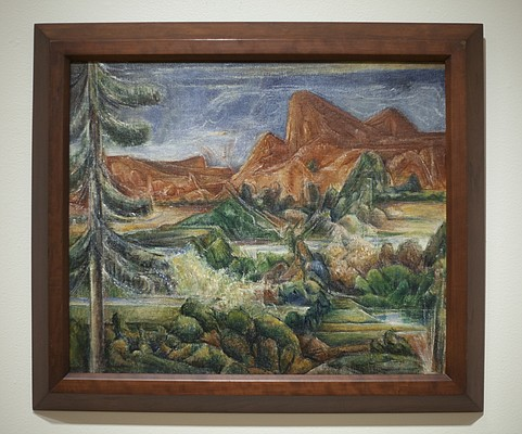 """The Red Mountain,"" 1945, by Albert Bloch"