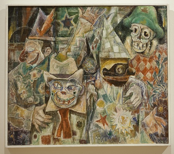 """Arabesque: Masked Motley,"" 1955, by Albert Bloch"