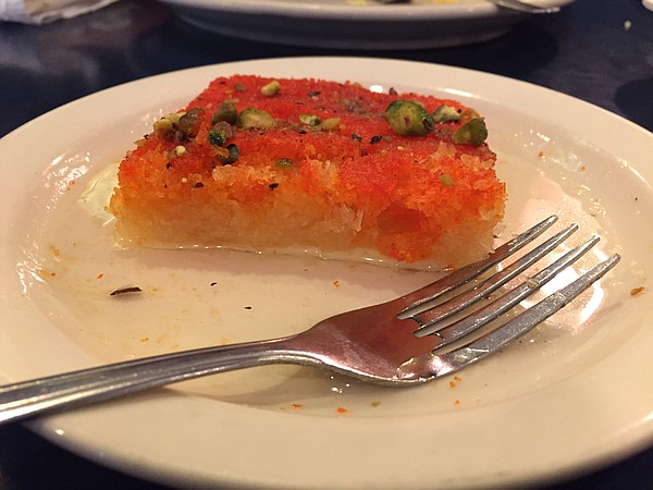 Kunafa at Aladdin Cafe, 1021 Massachusetts St.