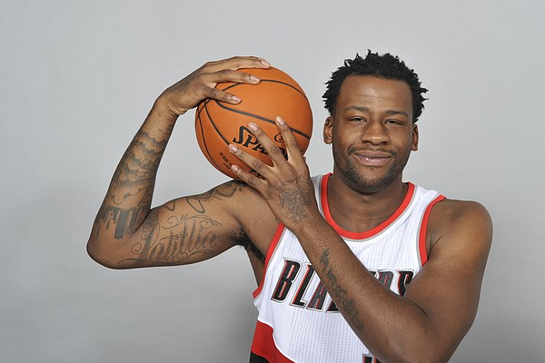 Portland Trail Blazers' Cliff Alexander poses for a photo during an NBA basketball media day in Portland, Ore., Monday Sept., 28, 2015. (AP Photo/ Greg Wahl-Stephens)