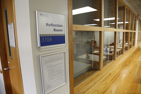 Alcove A, on the third level of the Kansas Union, has been designated a Reflection Room for students of all faiths or no faith to pray and meditate. The room is pictured Friday, Nov. 6, 2015.