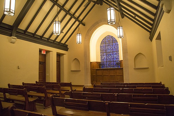 The interior of KU's Danforth Chapel, pictured Friday, Nov. 6, 2015.