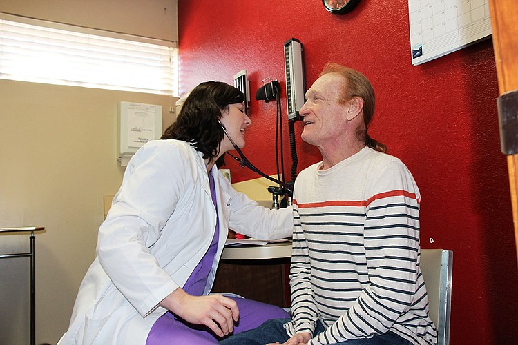 Pictured is HCA's full time nurse practitioner Elizabeth Graham