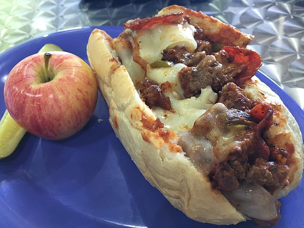 The Betta' Pizza Burger at The Sandwich Bowl, 3514 Clinton Parkway, Suite E