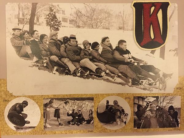 January, from the KU Alumni Association 2016 calendar. The 2016 calendar features vintage photos to mark KU's sesquicentennial.