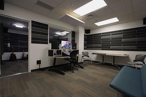 Lawrence Public Library's Sound + Vision recording studio