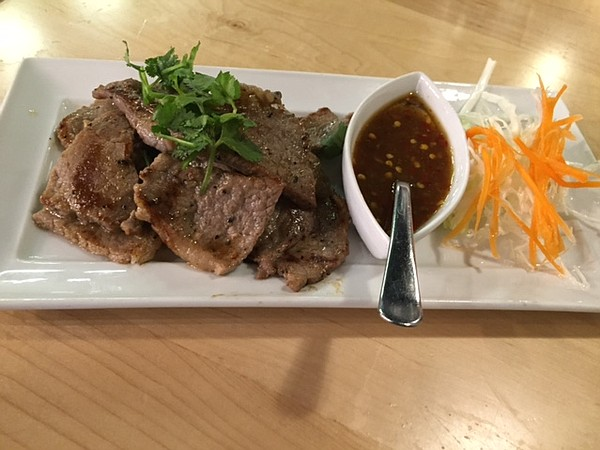 Tiger Cry Beef at Baan Thai, 741 Massachusetts St.