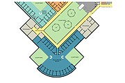 At a town hall meeting Monday, Treanor Architects shared this footprint of a pod for inmates with mental health concerns proposed to be part of an expansion of the Douglas County Jail. The design reflects the influence of a September fact-finding trip county officials and community leaders made to St. Elizabeths Hospital in Washington, D.C., where it was learned special-needs inmates respond favorably to natural light and fresh air.
