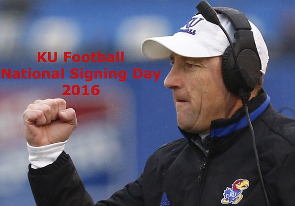 It's national signing day for KU football.