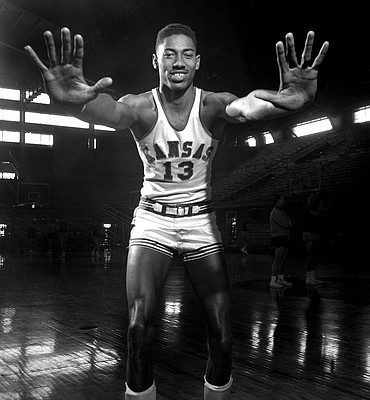 Kansas University basketball freshman recruit Wilt Chamberlain at KU in 1955.