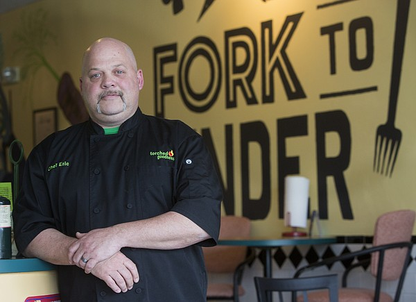 Eric Ireland, chef-owner of Fork to Fender and the Torched Goodness crème brûlée truck, is pictured here at his restaurant, 1447 W. 23rd St.