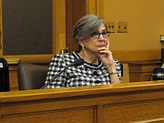 Kansas Senate President Susan Wagle, R-Wichita, listens to testimony during a committee hearing, Tuesday, Feb. 16, 2016, at the Statehouse in Topeka.