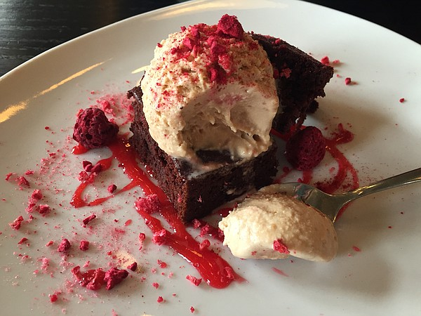 The Mexican chocolate beet torte at Merchants Pub and Plate, 746 Massachusetts St.