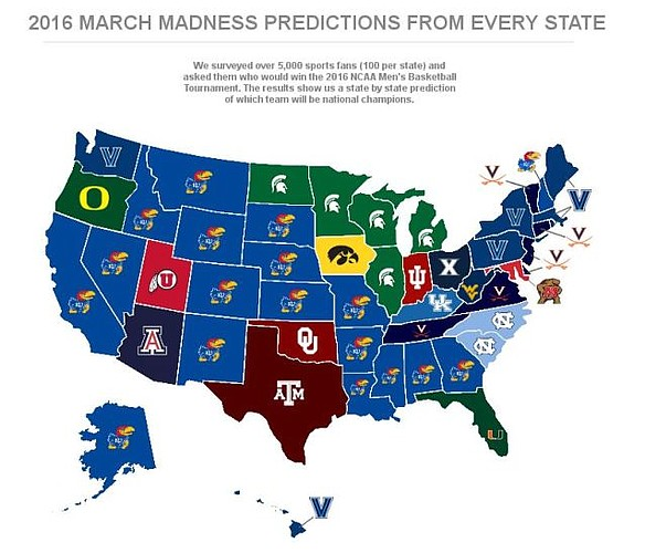 Results of an informal poll of college hoops fans in all 50 states from the guys at SportsBettingExperts.com.
