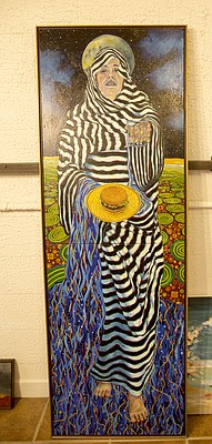 """Ogallala Siren,"" by local artist Nancy Marshall, is among the pieces on display now in ""Heating Up: Artists Respond to Climate Change"" at the Lawrence Percolator, 913 Rhode Island St. The exhibit is part of a month-long series of educational and cultural events devoted to climate change scheduled throughout March and April."