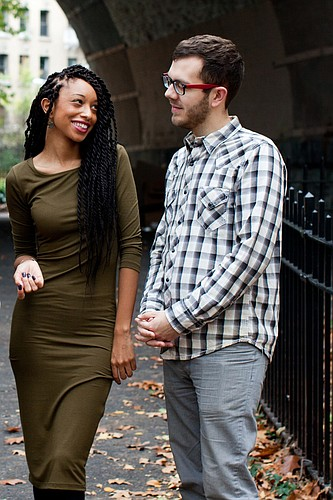 Lawrence-raised, New York City-based jazz pianist Addison Frei, right, and his girlfriend, vocalist Tahira Clayton, will perform at the Lawrence Arts Center at 7:30 p.m. Thursday, March 31. The couple will be joined on stage by Frei's childhood friend, Lawrence-based musician Lucas Parker.