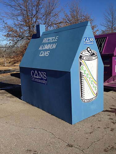 "Cans for the Community has 12 ""can houses"" throughout Lawrence."
