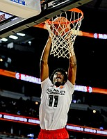 West forward Josh Jackson, from Justin-Siena/Prolific Prep Academy in Napa, Calif., dunks against the East team during the McDonald's All-American boys basketball game, Wednesday, March 30, 2016, in Chicago. The West beat the East 114-107. (AP Photo/Matt Marton)