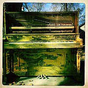 An abandoned piano in an alley provided a single subject to explore. Success for many visual artists begins with the simple task of identifying a subject and exploring it to its fullest.