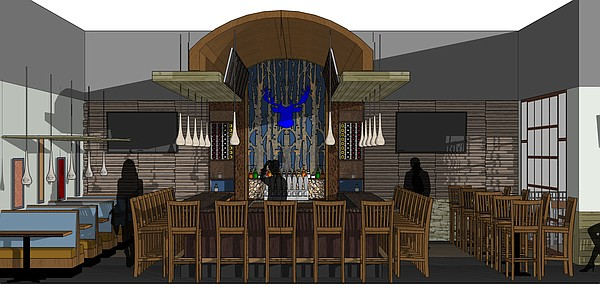 A look at the proposed bar area of the Blue Moose restaurant slated for west Lawrence. Courtesy: KC Hopps