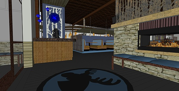A look at the lobby area of the proposed Blue Moose Bar & Grill. Courtesy: KC Hopps Ltd.