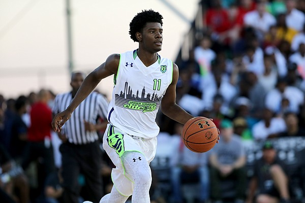 Team EZ Pass' Josh Jackson #11 in action against Team Doo Be Doo in the Under Armour Elite 24 game on Saturday, August 22, 2015 in Brooklyn, NY. (AP Photo/Gregory Payan)