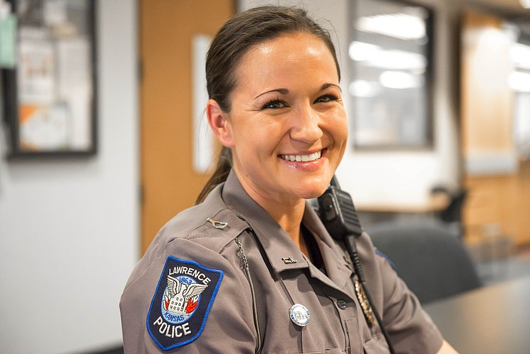 Amber Rhoden of the Lawrence Police Department is a passionate advocate for training officers how to intervene with people who are experiencing a mental health crisis.