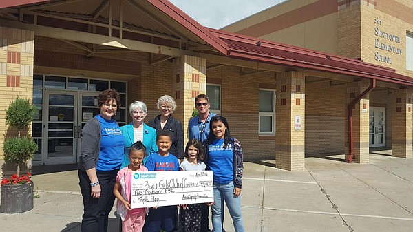 The Sunflower Elementary Boys & Girls Club was awarded a $5,000 Focus Grant.