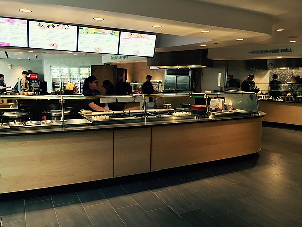 The Courtside Cafe on the lower level of KU's DeBruce Center.