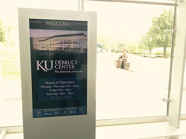 KU's DeBruce Center is open Monday through Saturday.