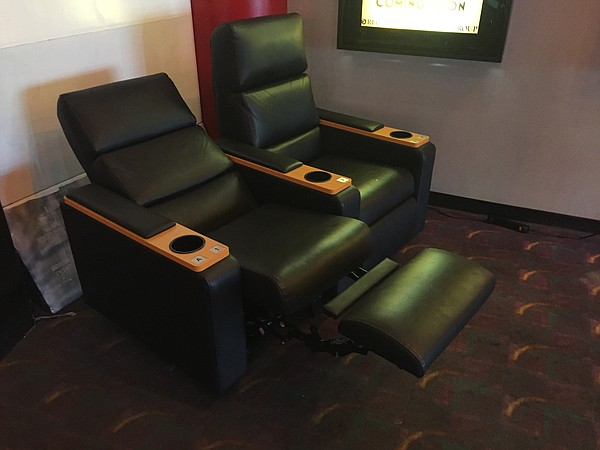 New reclining chairs are slated to be installed in Lawrence's Regal Cinema Southwind theater as part of planned renovations.