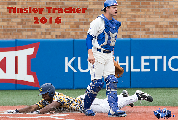 Kansas catcher Michael Tinsley is chasing that magic mark of .400 at the plate and we'll track his sprint to the finish right here.