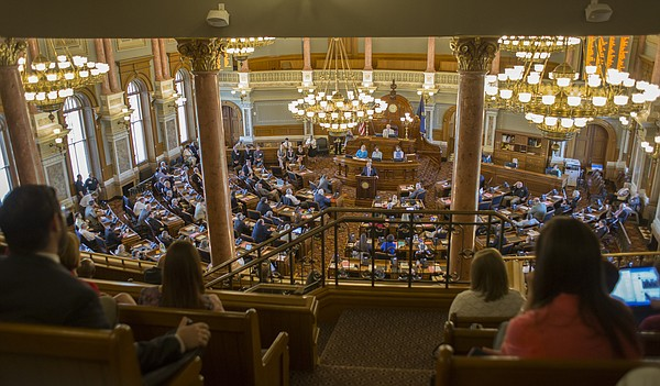 The Kansas House of Representatives meets during the final day of this legislative session Wednesday, June 1, 2016 at the Statehouse in Topeka.