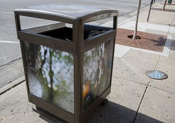 Kati Toivanen, Treasure Hunt - trash cans on Mass.