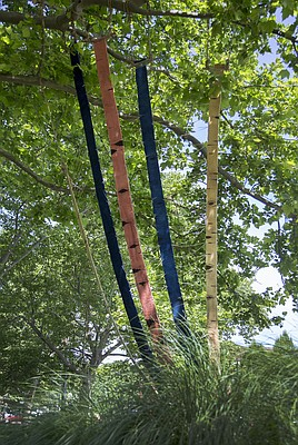 Neil Goss - Medicinal Birch: Visual Consumption tree weaving - South Park, west side