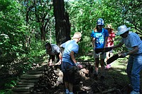 Youth engage in outdoor work at Hidden Valley camp. Photography by Malka Hampton