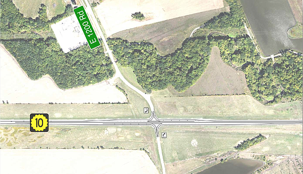 Proposed plan for Kasold and SLT intersection. Courtesy: KDOT/city of Lawrence