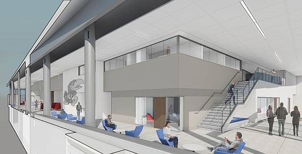 This rendering shows how the interior new Central District student union, being constructed to replace Burge Union, may appear.